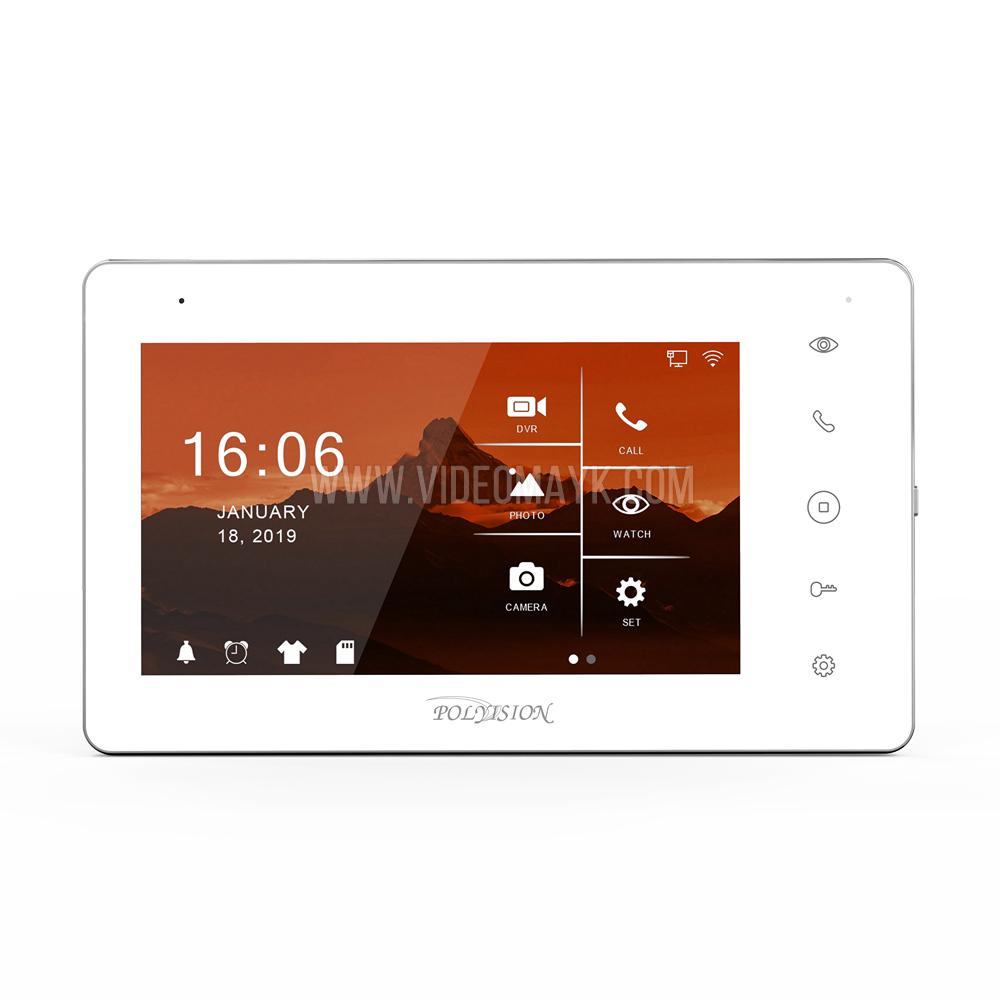 AHD видеодомофон Wi-Fi PVD-07L-HDW v.8.1 IPS сенсорный дисплей