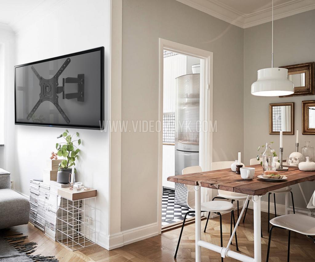 """ONKRON кронштейн для телевизора 32""""-65"""" наклонно-поворотный, чёрный M4"""