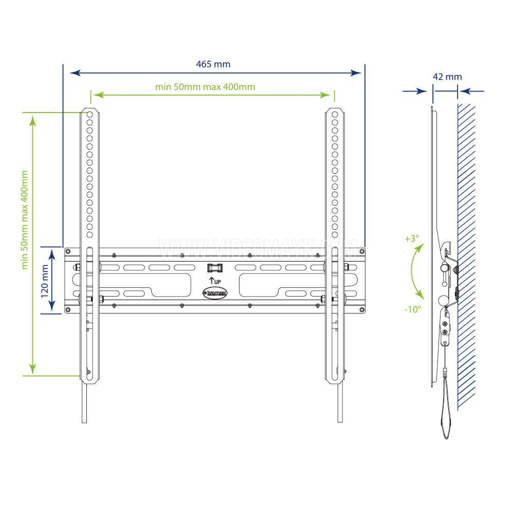 Настенный кронштейн для LED/LCD телевизоров KROMAX FLAT-4 BLACK