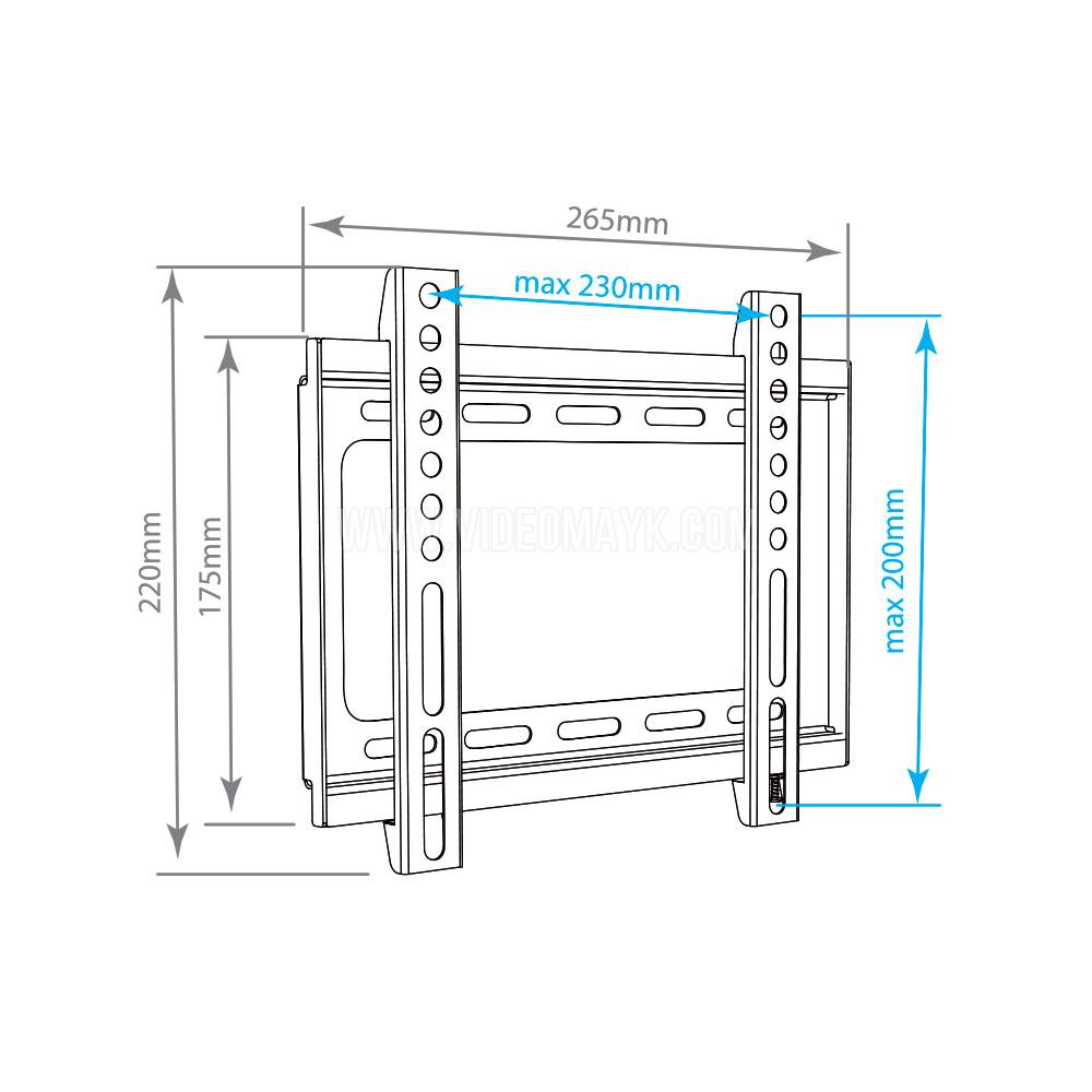 Настенный кронштейн для LED/LCD телевизоров ARM MEDIA STEEL-5 BLACK