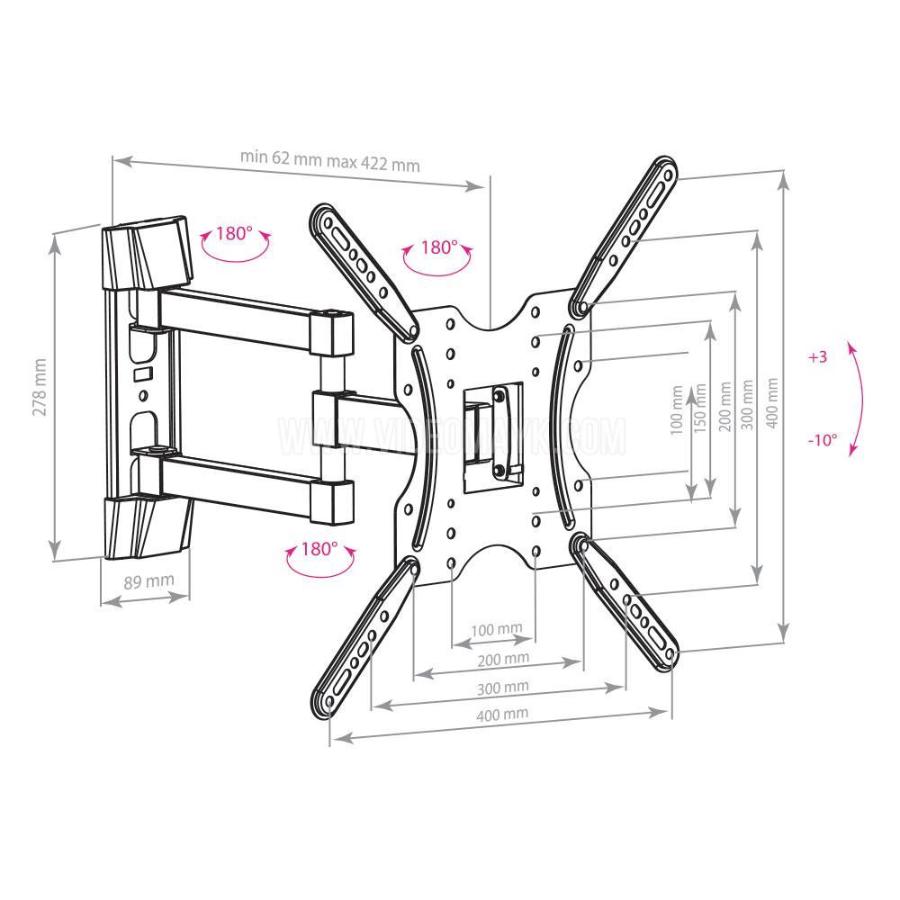 Настенный кронштейн для LED/LCD телевизоров ARM MEDIA LCD-404 BLACK