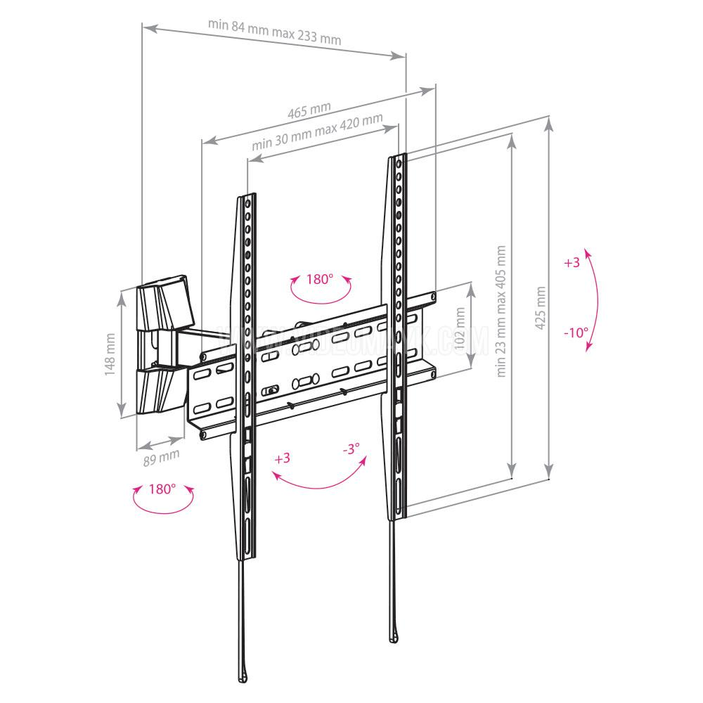 Настенный кронштейн для LED/LCD телевизоров ARM MEDIA LCD-413 BLACK