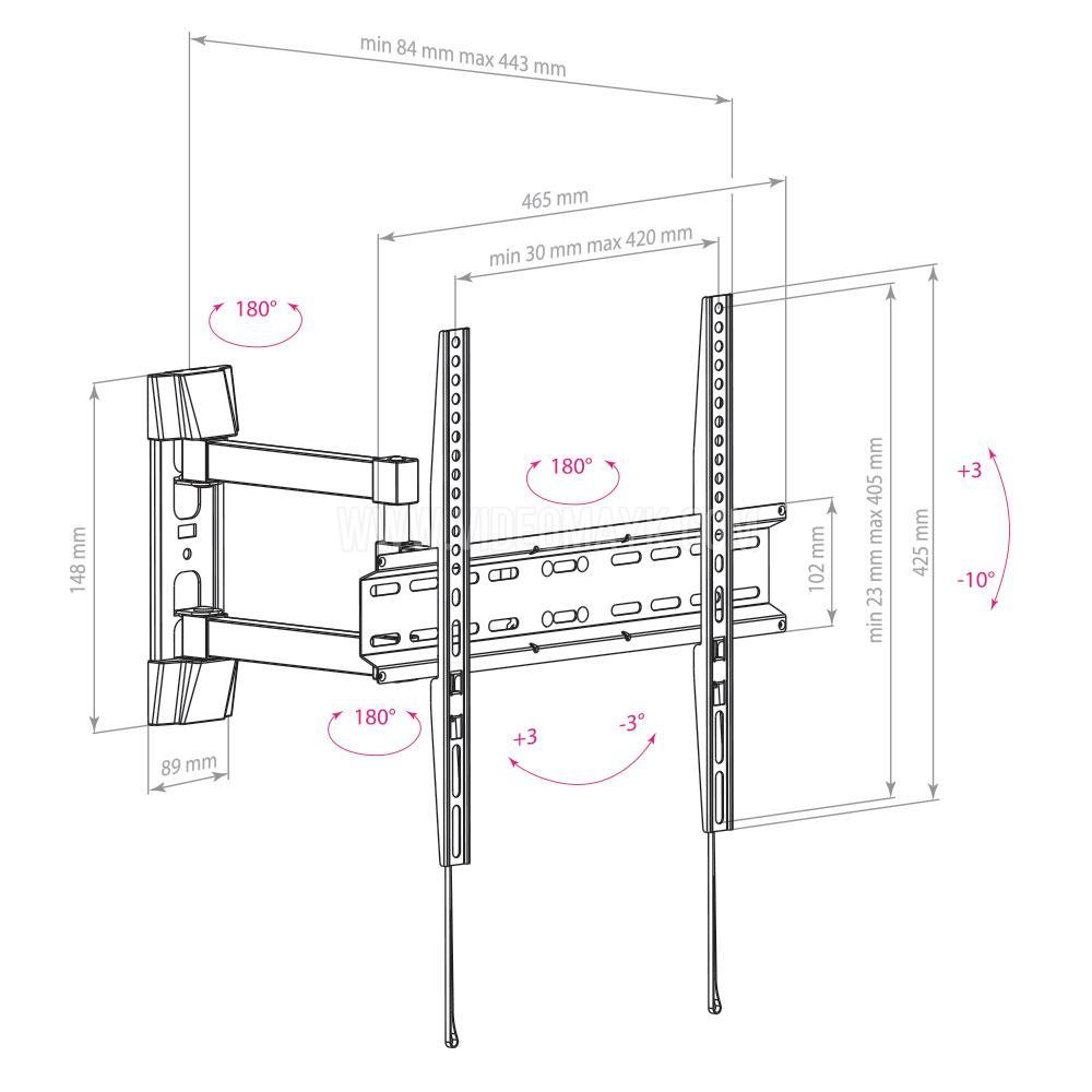 Настенный кронштейн для LED/LCD телевизоров ARM MEDIA LCD-414 BLACK