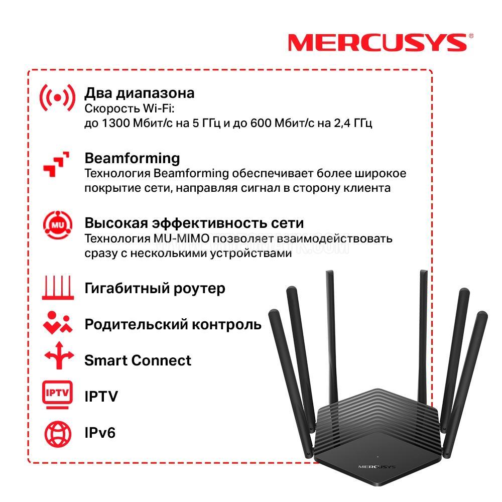 MR50G НОВИНКА AC1900 Двухдиапазонный гигабитный Wi-Fi роутер