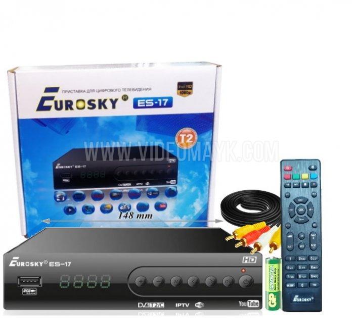 Eurosky ES-17 DVB-T2 Metall+INTERNET с функцией записи и просмотра интернет-каналов,IPTV,YouTube