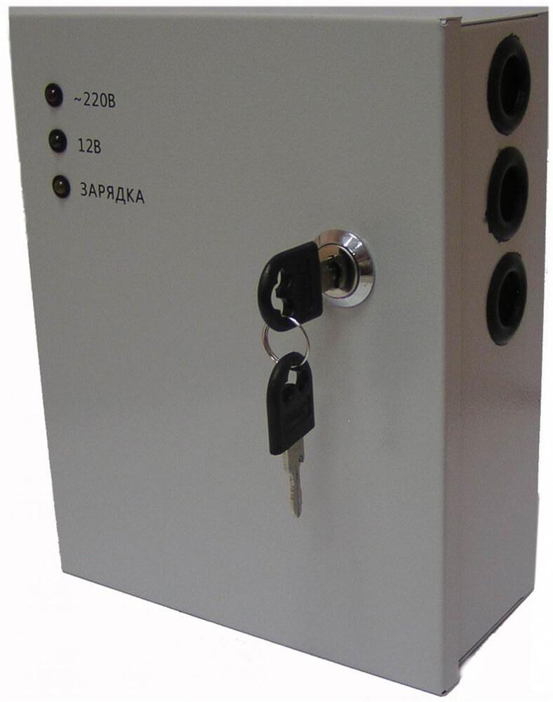 UPS-5128 Импульсный блок бесперебойного питания 12В/5А 8 выходов, в металлическом боксе с защитой