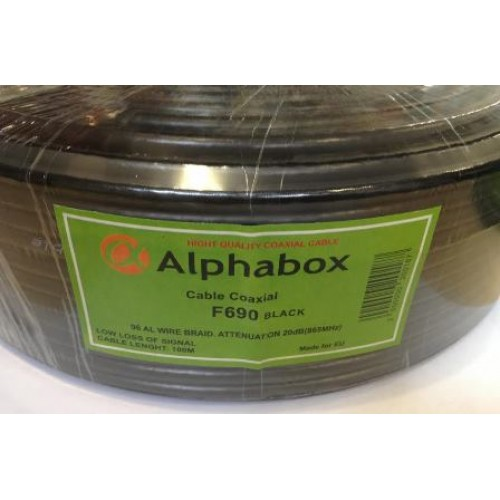 Alphabox RG-6 black
