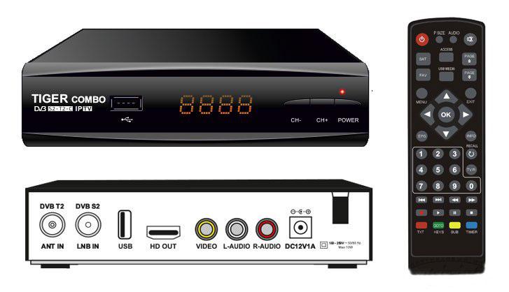 TIGER COMBO HD DVB-S2/T2/C