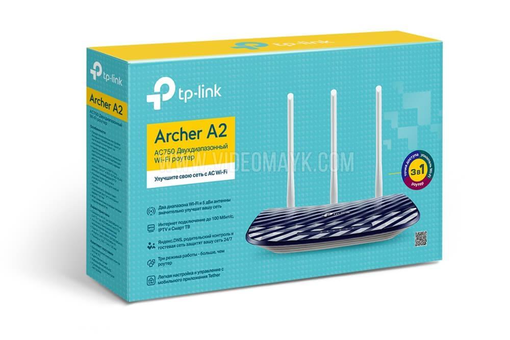 TP-Link Archer A2  Беспроводной двухдиапазонный маршрутизатор 433 Мбит/с AC750