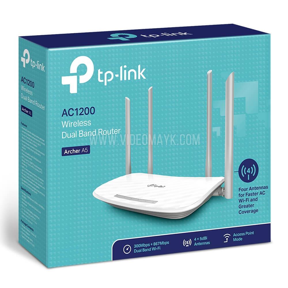 TP-Link Archer A5  Беспроводной двухдиапазонный маршрутизатор 867 Мбит/с AC1200